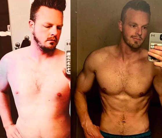 keto before and after man