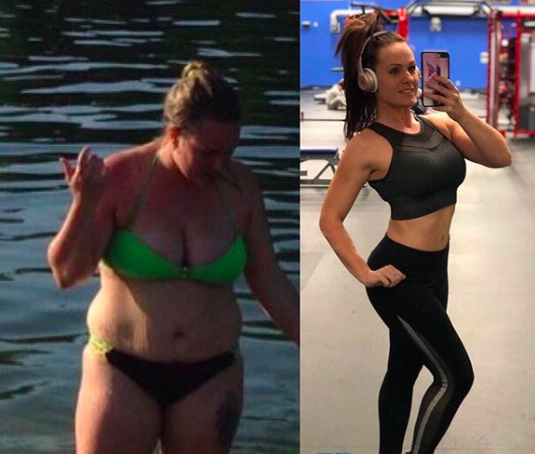 keto diet before and after woman