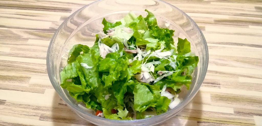 keto mackerel dinner salad
