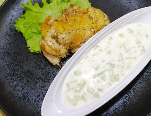 Keto Chicken with Cucumber Salad
