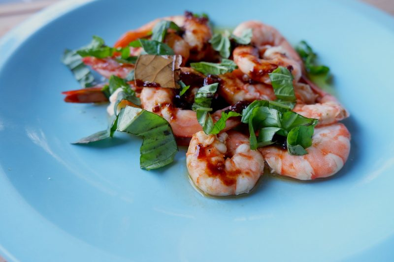 Keto Microwave BBQ Shrimp