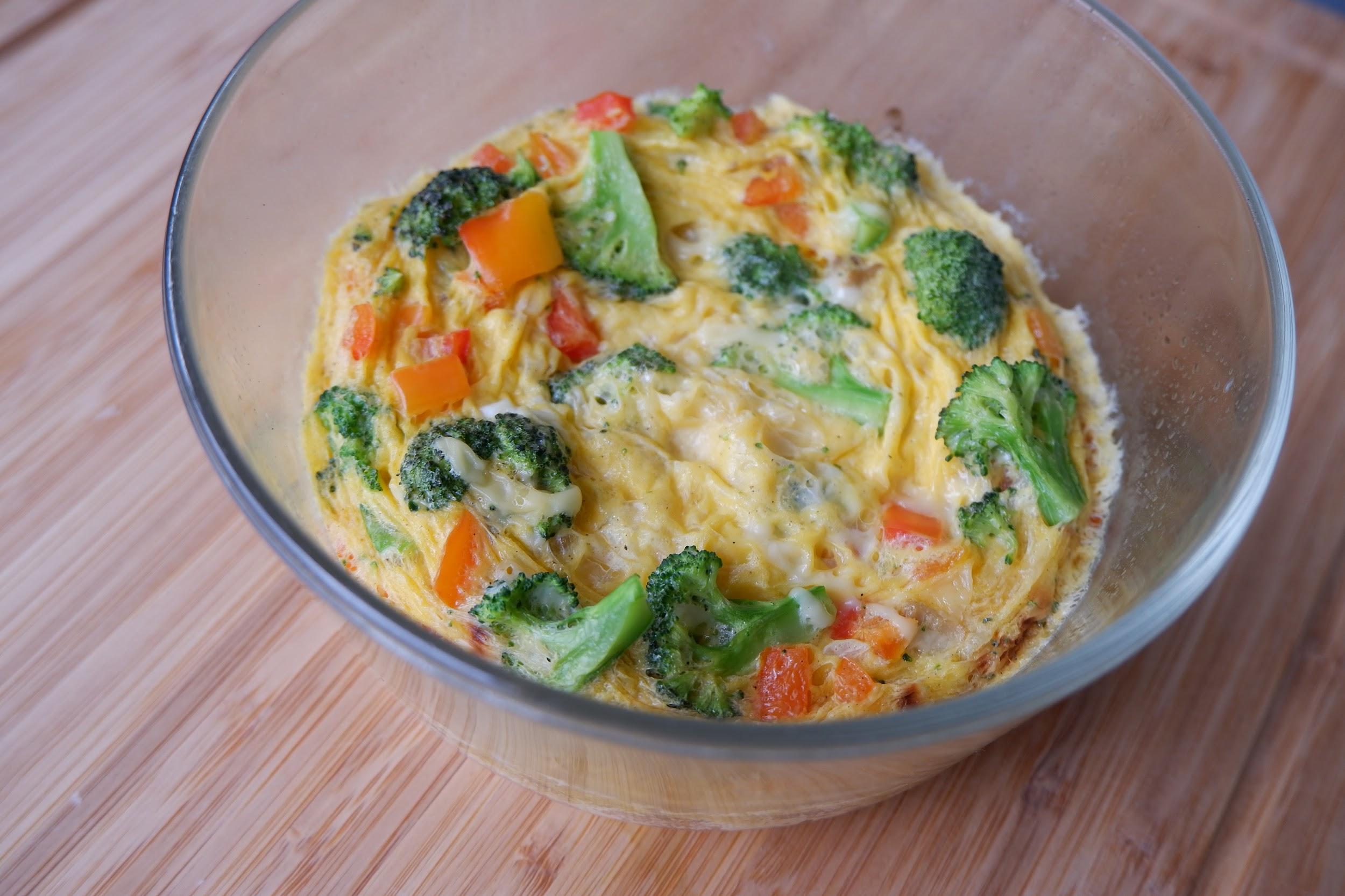 Keto Microwave Veggie Omelet