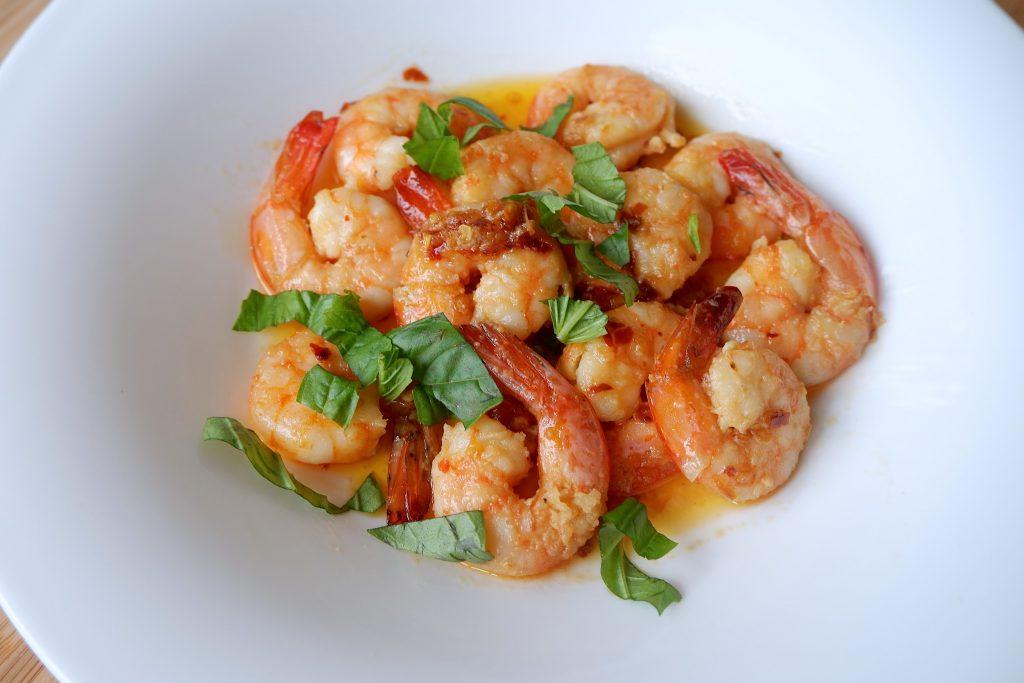 keto microwave garlic butter shrimp