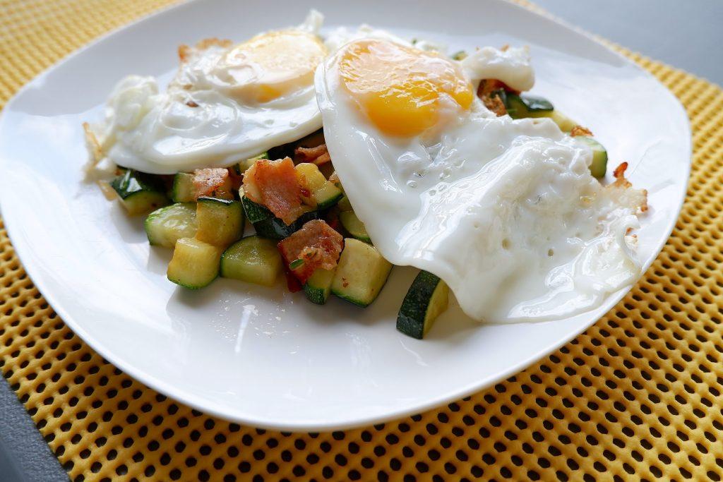 keto zucchini and bacon hash