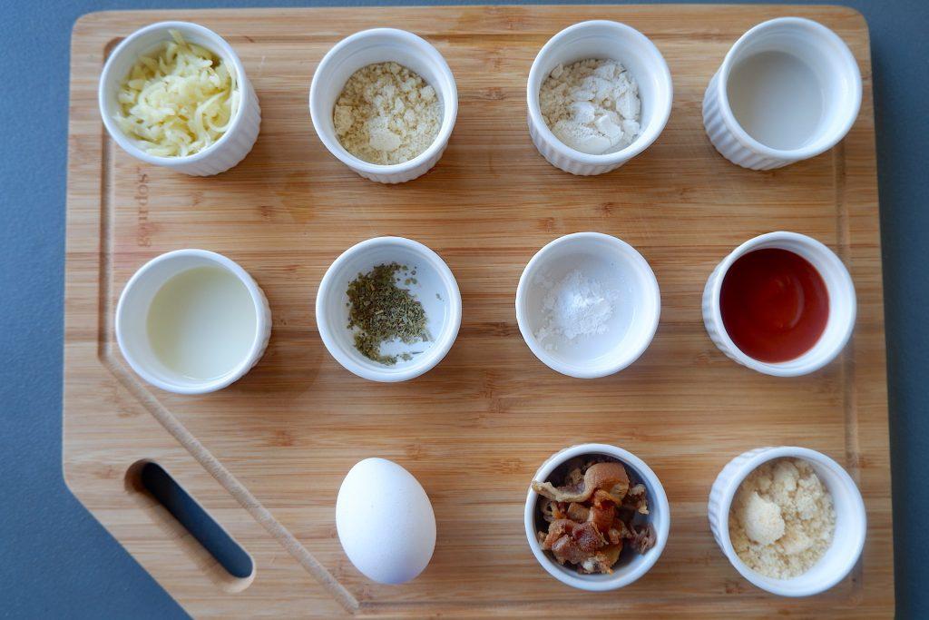 prepare all the ingredients for super easy keto pizza recipe