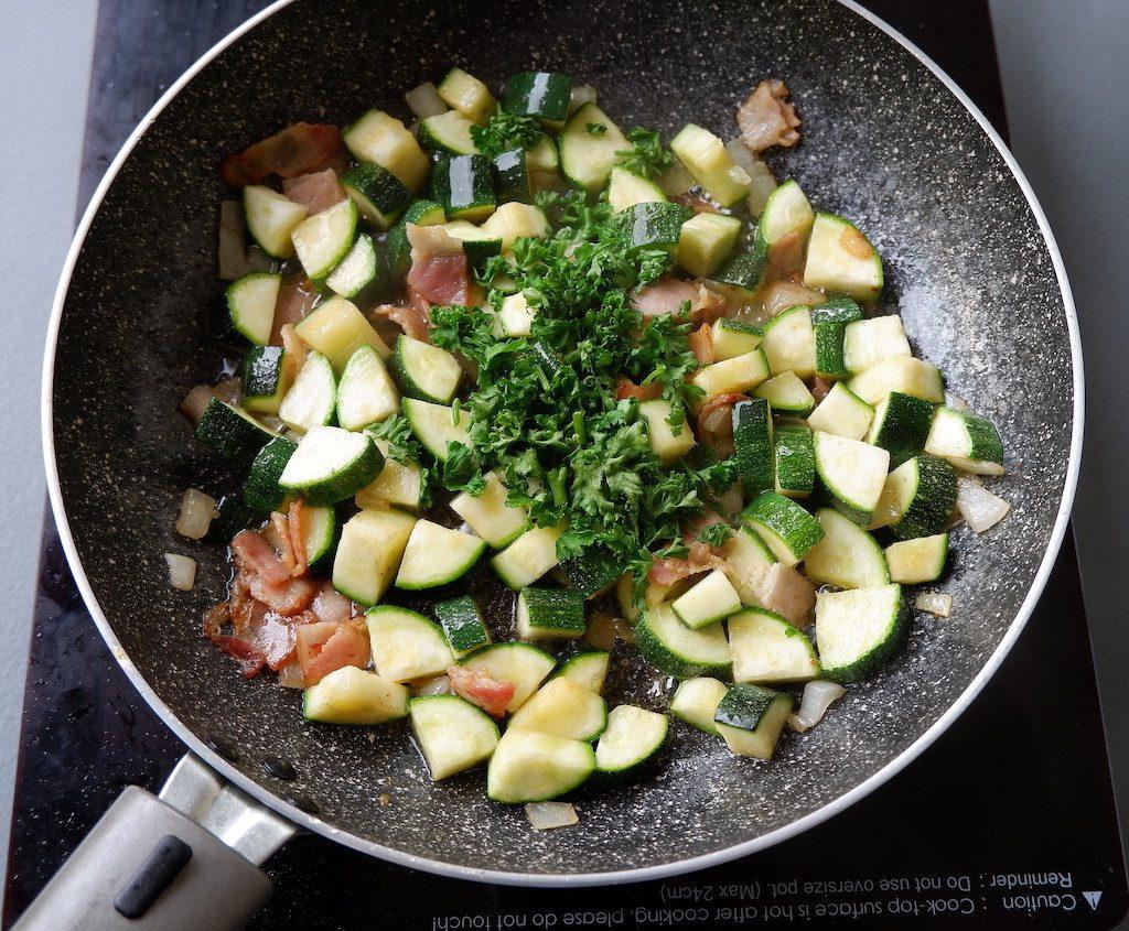 add parsley and stir
