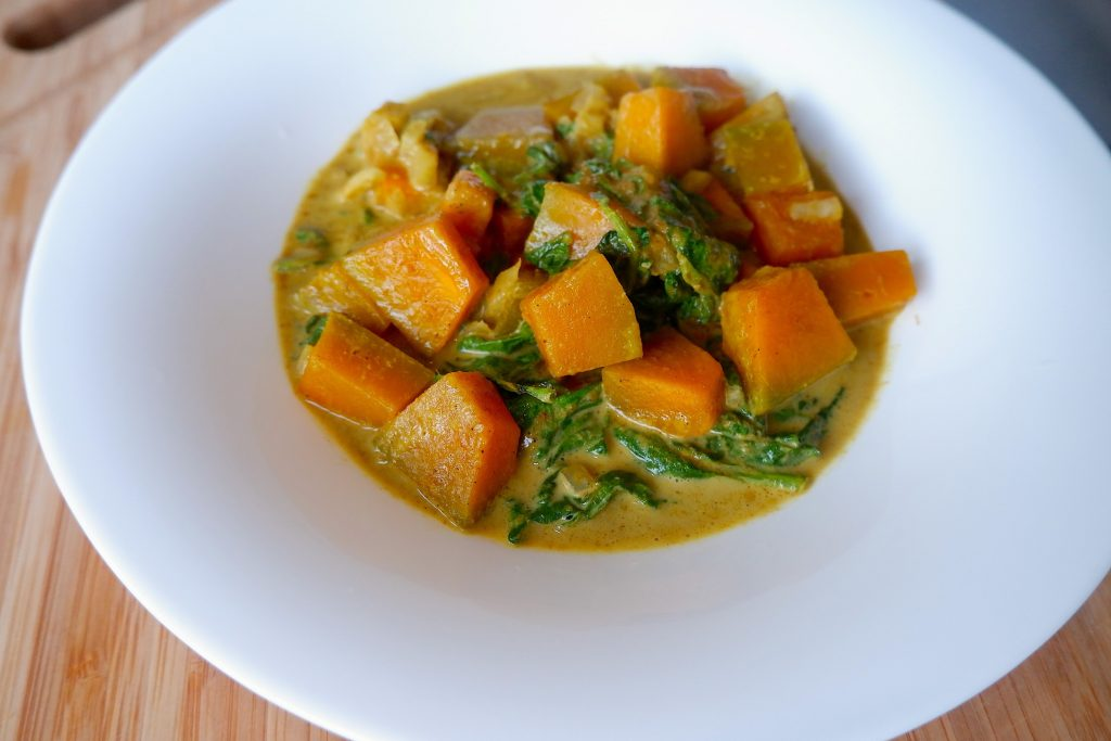 Keto Microwave Vegetable Curry